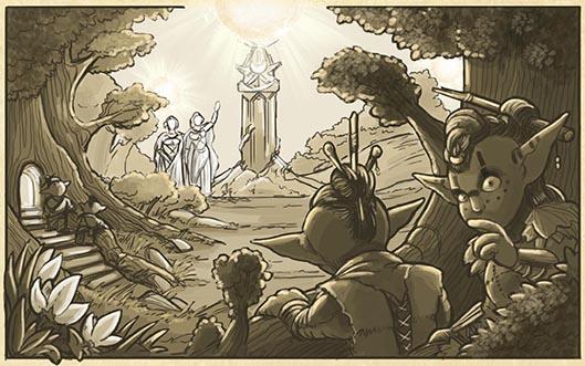 """Szene aus """"Die Welt von Bonfire"""""""